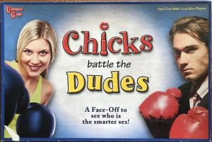 The cover shows a man and woman wearing boxing gloves. She is smiling but he looks serious