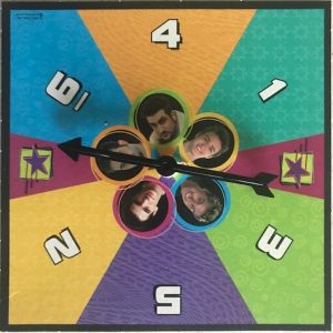 Colorful spinner with small pics of the boy faces