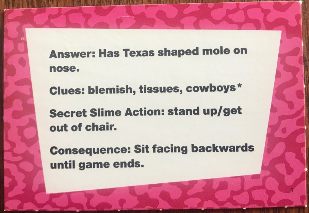 "Talent here is ""Has Texas shaped mole on nose"""