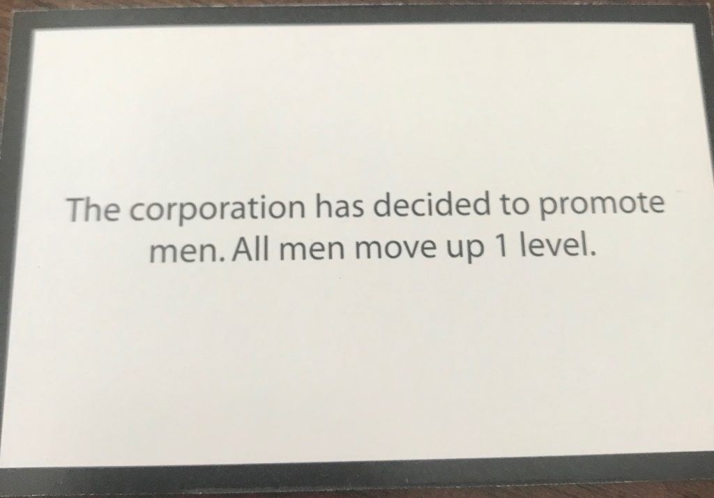 All men move up 1 level