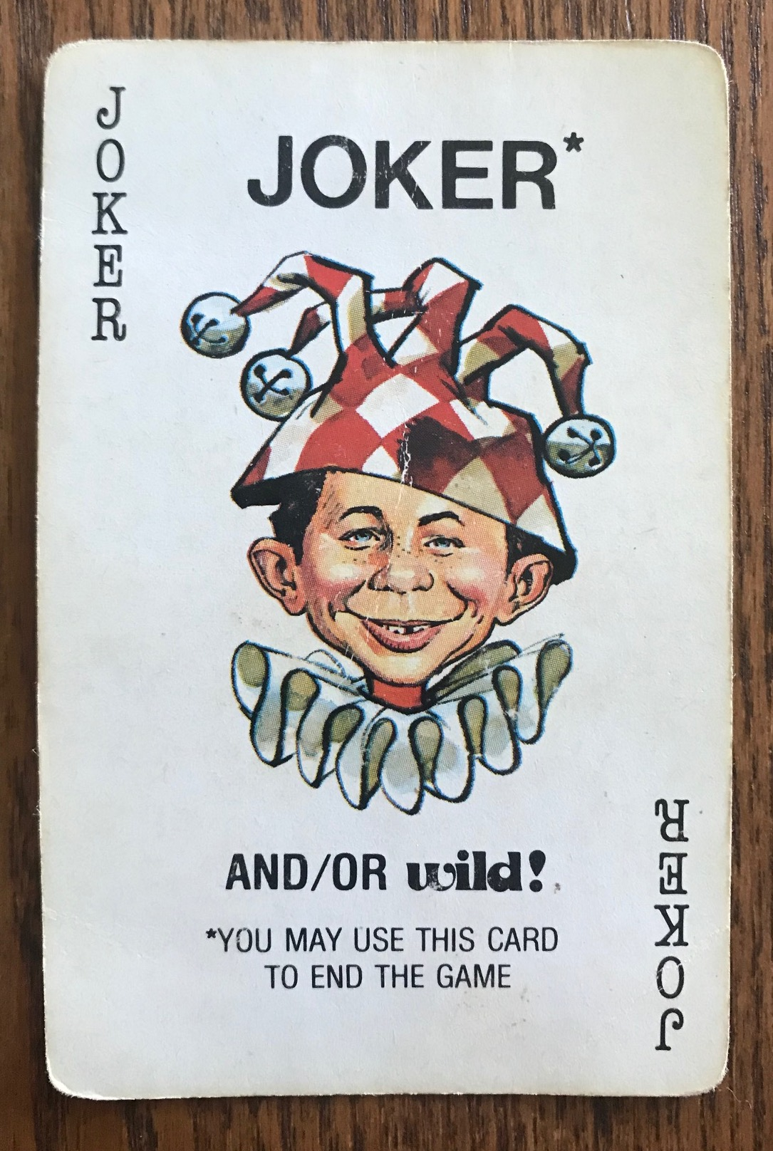 The Joker card shows Alfred E Neuman in a jester hat