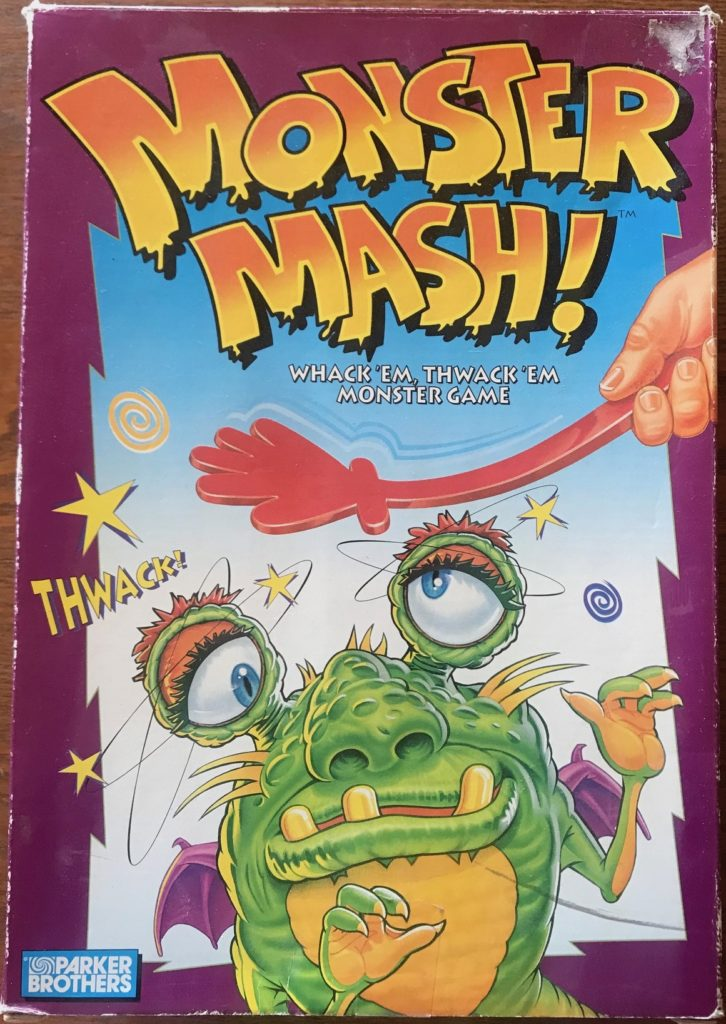 Cover has a green monster getting thwacked