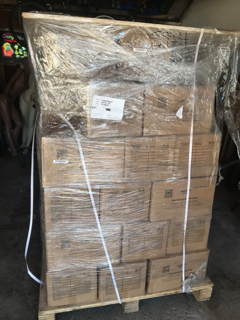 Pallet of games