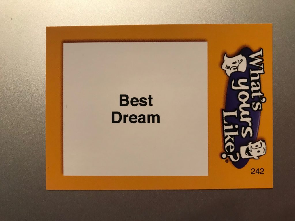 "The word is ""Best Dream"""