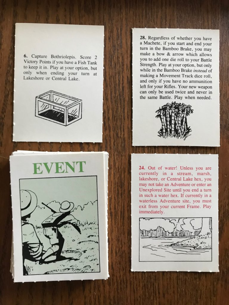 Example event cards