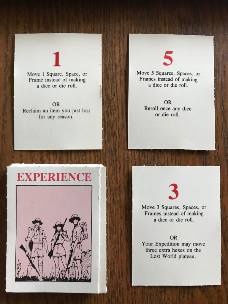 Experience cards