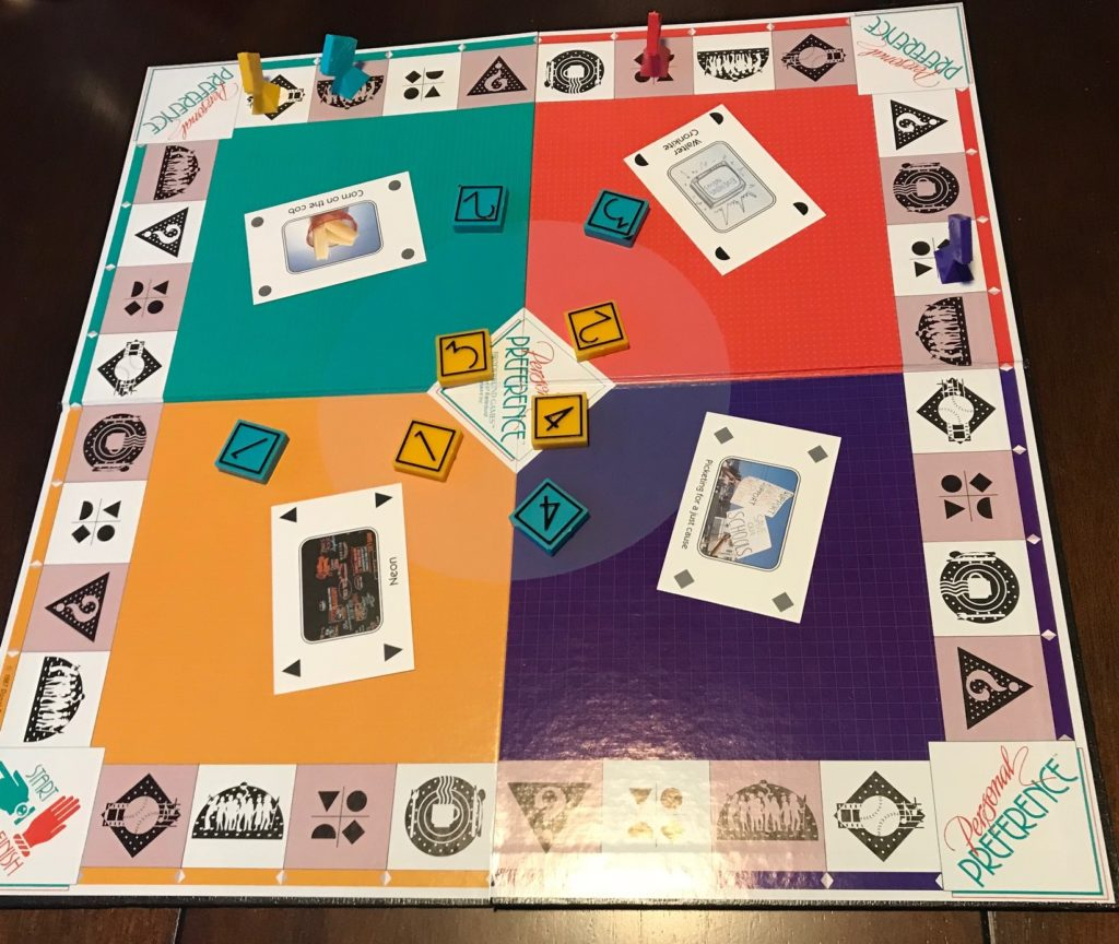 An overview of the board, the circle is a very lighter color in center