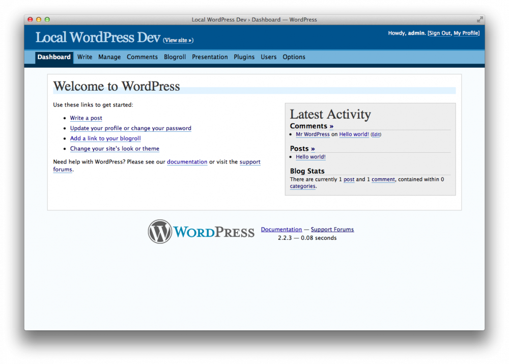 Evolution of WordPress's Admin UI – JJJ's Blog